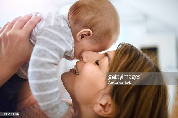 Cuddle with mommy