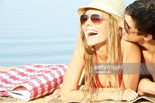Cuddling in the sun