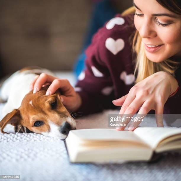 Cuddling while reading