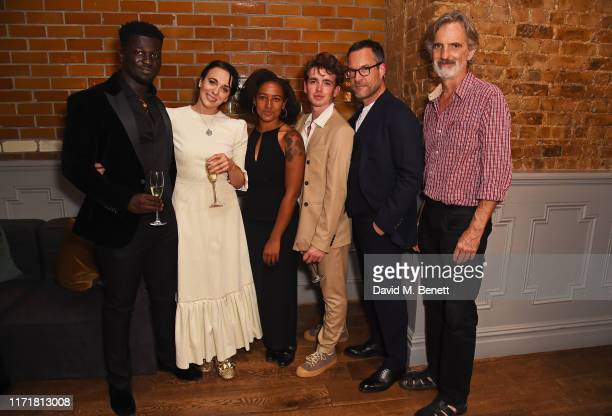 Cudjoe Asare Amanda Abbington Amaka Okafor Laurie Kynaston John Light and Martin Turner attend the press night after party for The Son at The Century...