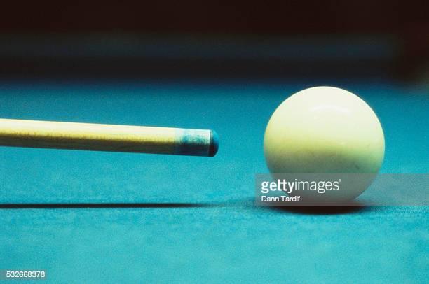 Cue and Billiard Ball