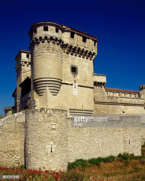 Cuellar province of Segovia Castile and Leon Spain Cuellar Castle or The Castle of the Dukes of Alburquerque It was built in the 15th century by don...