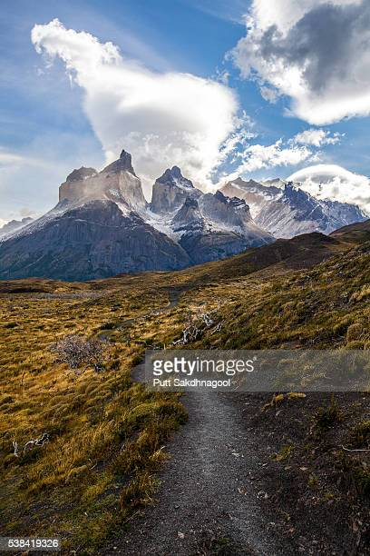 Cuernos del Paine on Cloudy Day