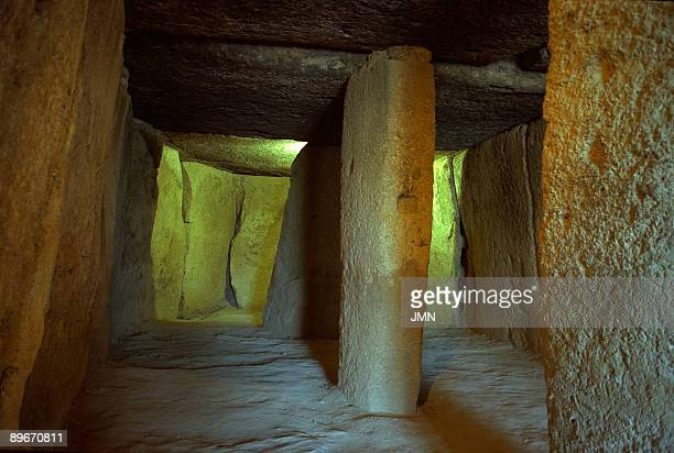 Cueva de Menga Antequera Malaga Megalithic burial mound barrows or dolmen dating from the 3rd millennium BCE It is considered to be the largest such...
