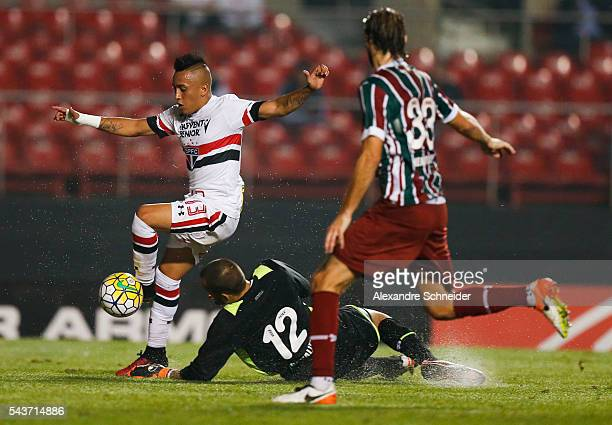 Cueva of Sao Paulo in action during the match between Sao Paulo and Fluminense for the Brazilian Series A 2016 at Morumbi stadium on June 29 2016 in...