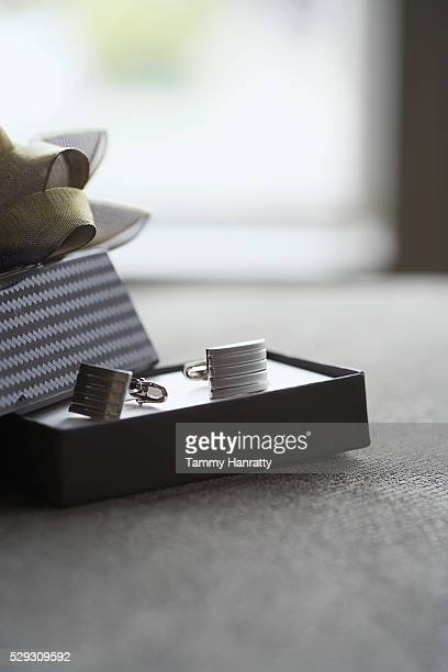 Cuff links in gift box