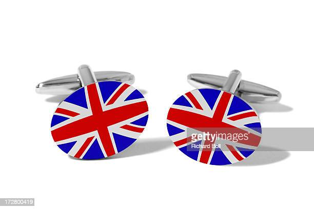 Cufflinks with the design of the British flag