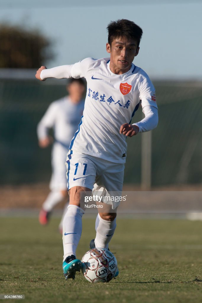Cui Ren during the friendly match between Royal Charleroi SC vs.Yanbian Funde FC at Pinatar Arena, Murcia, SPAIN. 10th January of 2018.