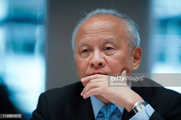 Cui Tiankai, China's ambassador to the U.S., listens during an interview in New York, U.S., on Friday, May 24, 2019. Tiankai discussed U.S. President...
