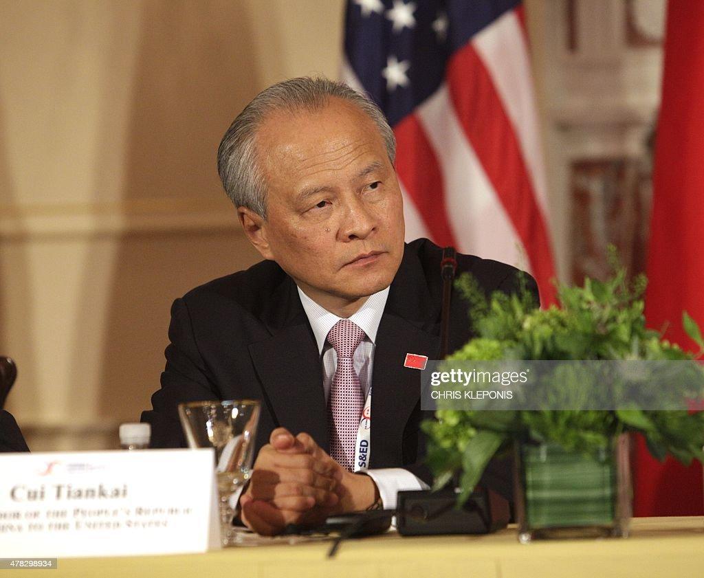 US-CHINA-DIPLOMACY-TRADE-RIGHTS : News Photo