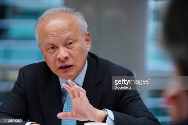Cui Tiankai, China's ambassador to the U.S., speaks during an interview in New York, U.S., on Friday, May 24, 2019. Tiankai discussed U.S. President...