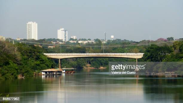 cuiabá river and mario andreazza bridge - cuiabá stock photos and pictures