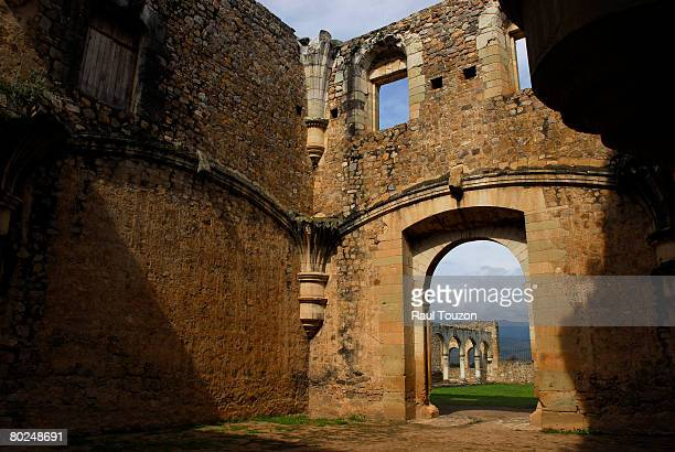 the ruins of the 16th century monastery of cuilapan. - cuilapan stock photos and pictures