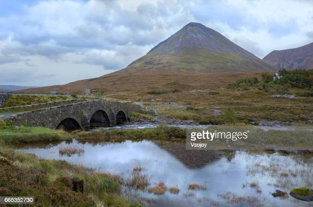 Cuillin Mountains and Sligachan Bridge, Skye, Scottish Highlands