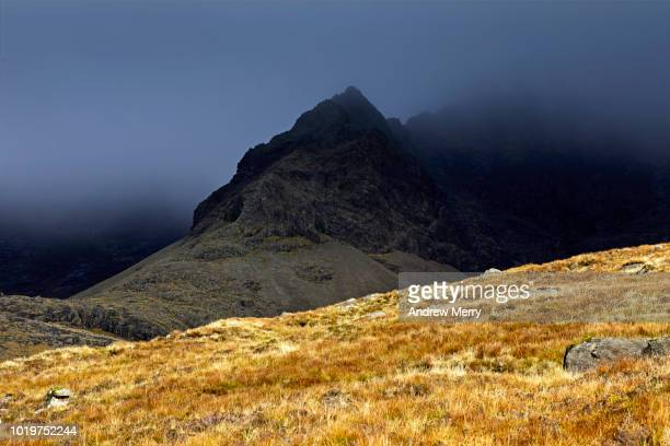 cuillin ridge, black cuillin, mountain range, isle of skye - ridge stock pictures, royalty-free photos & images