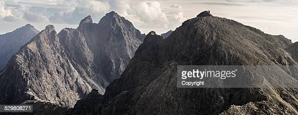 cuillin ridge - ridge stock pictures, royalty-free photos & images