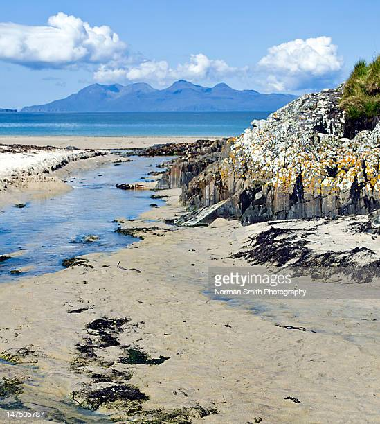 cuillins of rum - mallaig stock photos and pictures