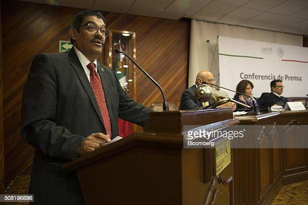 Cuitlahuac Ruiz Matus director general of epidemiology at Mexico's Health Ministry speaks during a news conference in Mexico City Mexico on Wednesday...