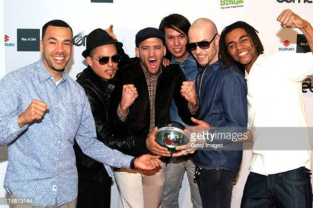 Culcha Candela pose with the award the VIVA Comet 2011 Awards at KoenigPilsner Arena on May 27 2011 in Oberhausen Germany