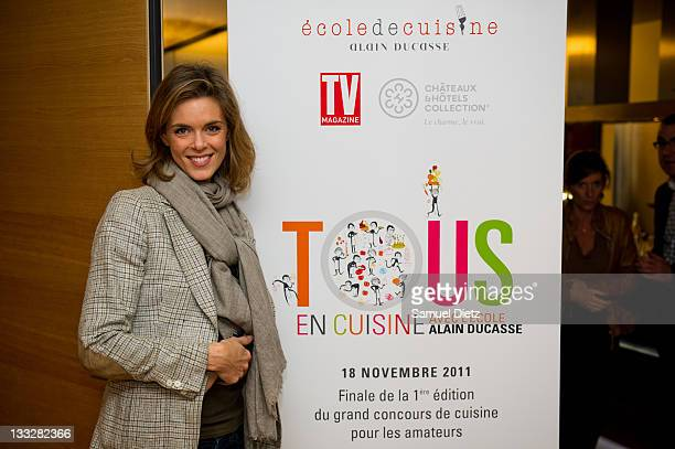 Culinary journalist and member of the jury Julie Andrieu attends the final of Chef Alain Ducasse 'Tous En Cuisine' cooking contest on November 18...
