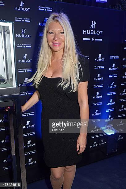 Culinary Journalist Nadine Rodd attends the 'Hublot Blue' cocktail party At Monsieur Bleu Palais De Tokyo on June 24 2015 in Paris France
