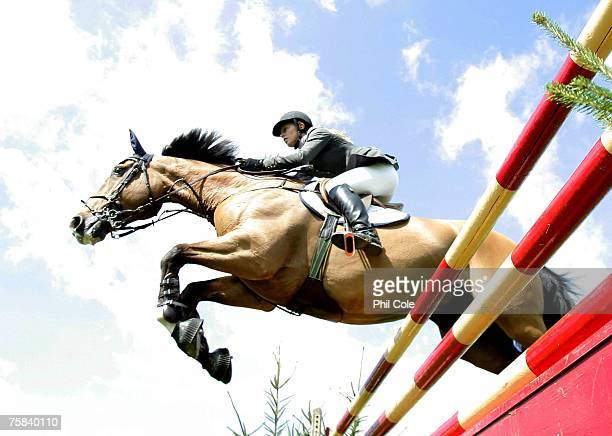 Cullawn Diamond ridden by Jane Annett during the Bunn Leisure Elizabeth II Cup Preliminary on July 28 in Hickstead England