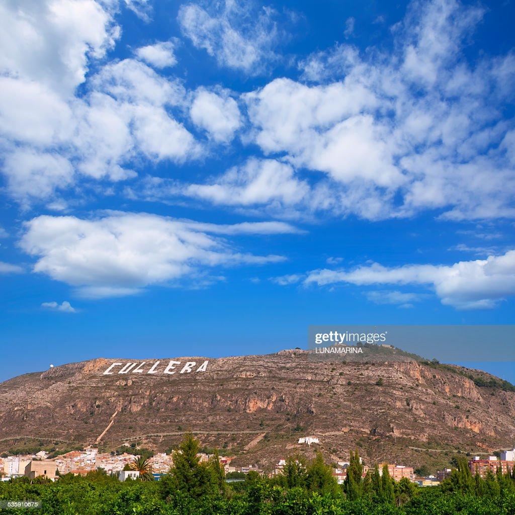 Cullera village las montañas en Valencia en cocina mediterránea de España : Foto de stock