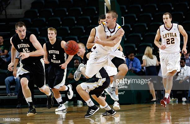 Cully Payne of the Loyola-Chicago Rambers passes the ball against the Western Michigan Broncos during the game at the Sun Dome on November 16, 2012...