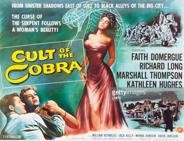 Faith Domergue bottom lr Marshall Thompson Kathleen Hughes on title card 1955