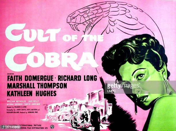 Cult Of The Cobra poster Faith Domergue British poster art 1955