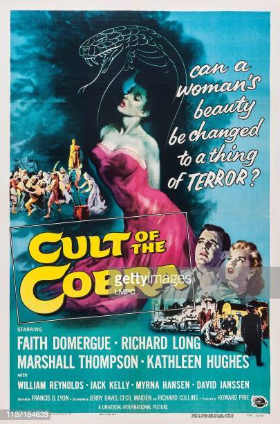 Cult Of The Cobra, poster, Marshall Thompson, Kathleen Hughes, Faith Domergue, William Reynolds, Jack Kelly, 1955.