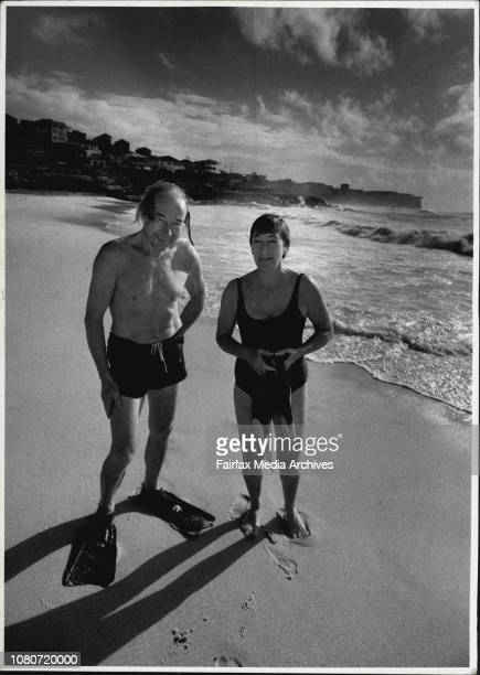 Cult of the old body surfersBody surfers Joan Hannan with Alex Carey pictured on Bronte Beach October 01 1987
