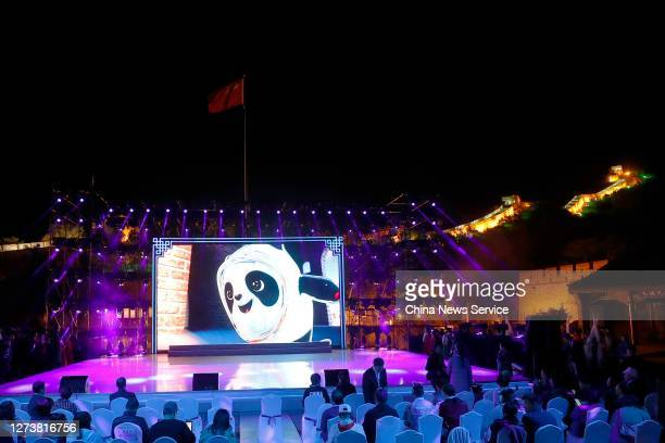 Cultural activities are held on the Badaling Great Wall to welcome the Beijing 2022 Olympic Winter Games' 500day countdown on September 20 2020 in...