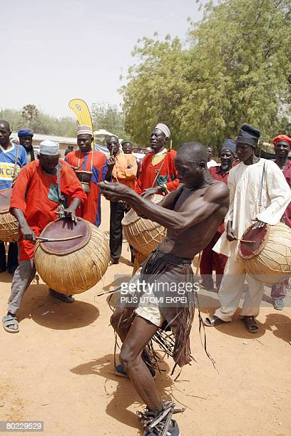 Cultural dancers entertain the crowd to welcome guests to the Argungu fishing festival in Kebbi State in northwestern Nigeria on March 13 2008...