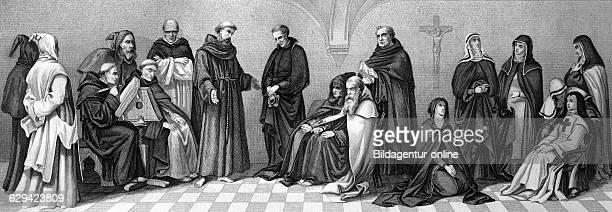Cultural history of the religious orders from left carthusians benedictines capuchins zwei dominicans franciscan jesuit two carmelites augustinian...