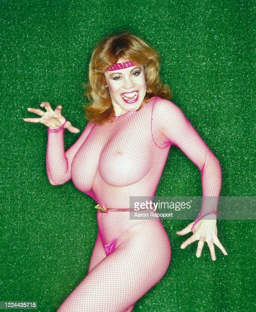 Cultural icon and pinup girl Kitten Natividad poses for a portrait in Hollywood California