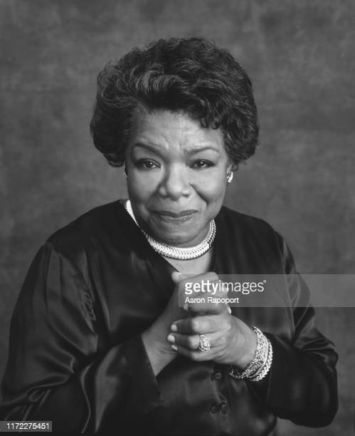 Cultural icon Maya Angelou poses for a photo in December 1996 in Winston-Salem, North Carolina.