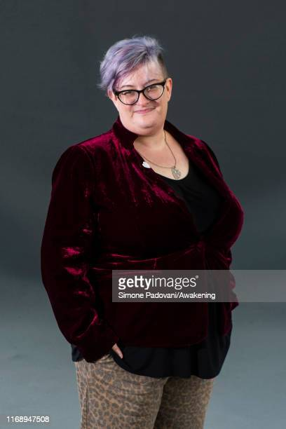 Culture and lifestyle journalist and author of historical fiction Kaite Welsh attends a photo call during Edinburgh International Book Festival 2019...