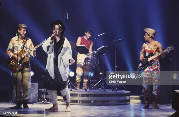 Culture Club 1983 Boy George at the Music File Photos 1980's in Los Angeles