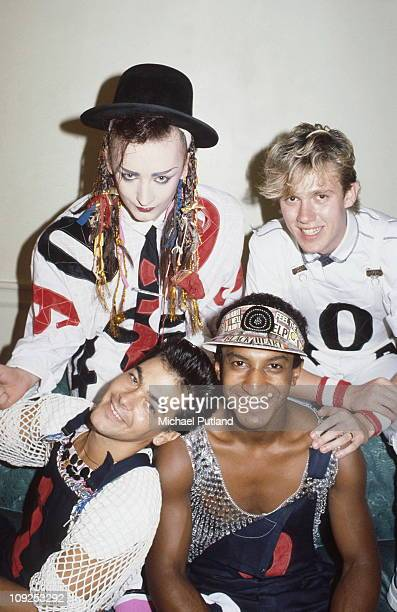 Culture Club group portrait New York August 1983 Clockwise from top left Boy George Roy Hay Mikey Craig Jon Moss