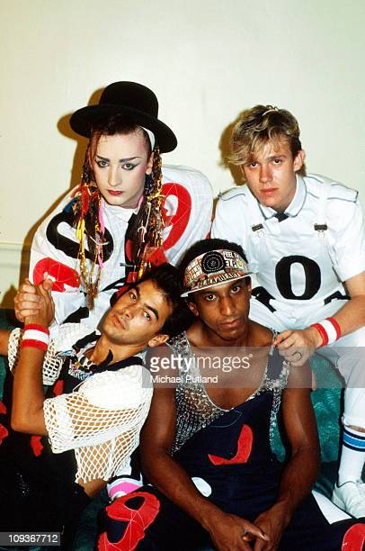 Culture Club group portrait Washington DC August 1983 Boy George Roy Hay Mikey Craig Jon Moss