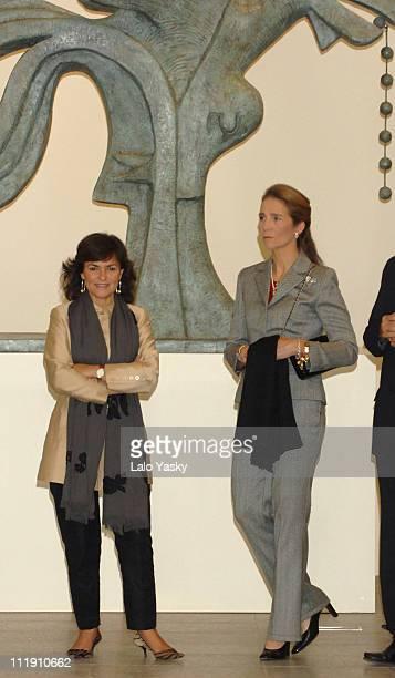Culture Minister Carmen Calvo and Elena of Spain