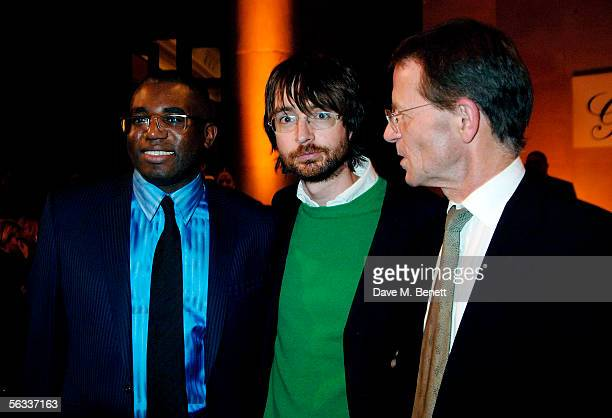 Culture Minister David Lammy Turner Prize winner of 2005 Simon Starling and the Director of Tate Britain Nicholas Serota attend the Turner Prize 2005...