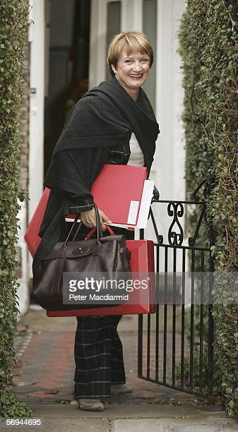 Culture Minister Tessa Jowell leaves her house on February 27 2006 in North London Tessa Jowell is facing questions over her husband David Mills'...