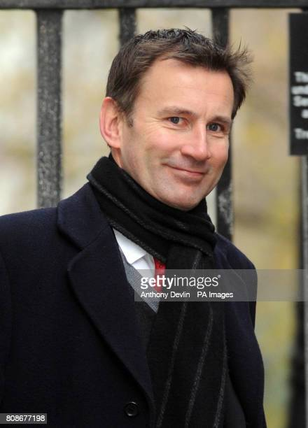 Culture Secretary Jeremy Hunt arrives for a cabinet meeting at 10 Downing Street, London.