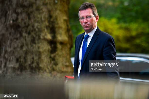 Culture Secretary Jeremy Wright arrives for a weekly meeting of cabinet ministers at number 10 Downing Street in London on October 16 2018 Prime...