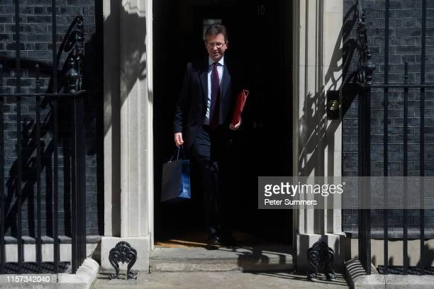 Culture Secretary Jeremy Wright leaves a Cabinet meeting at Downing Street on July 23 2019 in London England Ministers of Theresa May's Cabinet...