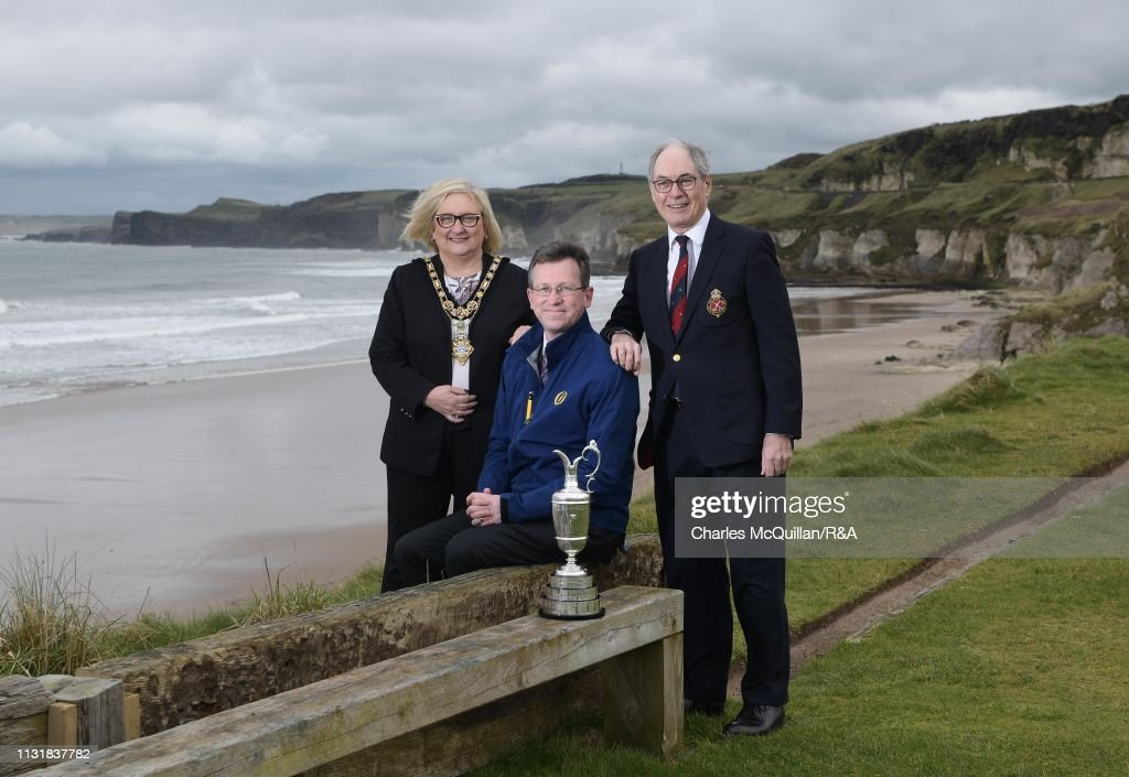 GBR: MP Jeremy Wright Visits Royal Portrush Golf Club