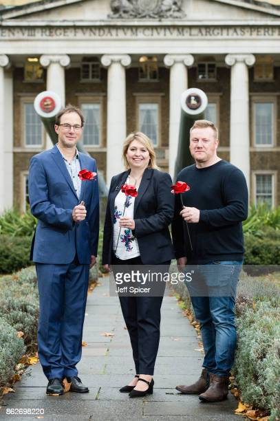 Culture Secretary Karen Bradley with designer Tom Piper and artist Paul Cummins announces the final venues chosen to host the iconic poppy Sculptures...