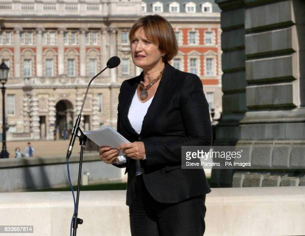 Culture Secretary Tessa Jowell delivers a speech during the unveiling of a memorial to those who died in the Bali bombings four years ago on Clive...